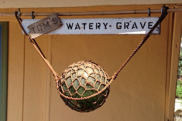 Tom's Water Grave sign